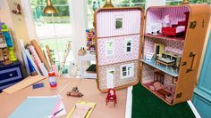 Suitcase Dollhouse What a great idea !