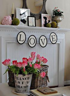 Valentineu0027s Day: Rustic Chic Valentineu0027s Day Mantel Decor | Valentineu0027s Day  | Pinterest | Mantels Decor And Mantels