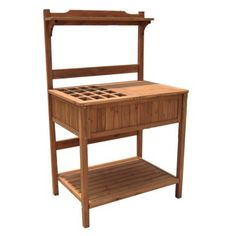 Sturdy Potting Bench With Recessed Storage