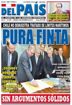 Primer día de alegatos. Chile - 06.12.12 (Del País - Perú - 07.12.12). #LaHaya #Peru #Chile