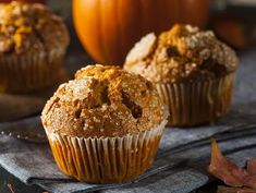 How To Make A Delicious, Healthy Pumpkin Muffin - Oola.com Best Pumpkin Muffins, Pumpkin Muffin Recipes, Pumpkin Waffles, Oatmeal Cookie Recipes, Oatmeal Muffins, Healthy Breakfast For Kids, Best Smoothie Recipes, Kid Desserts, Baking Muffins