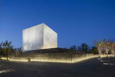 in suzhou, a city 100 kilometers west of shanghai, neri  hu has completed a chapel that appears externally as a simple white cube.