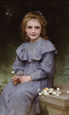 Daisies by William-Adolphe Bouguereau