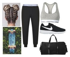 """Going to the Gym"" by bruh-its-sudsies ❤ liked on Polyvore featuring Calvin Klein, NIKE and Vanessa Bruno"