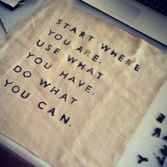 Start Somewhere!