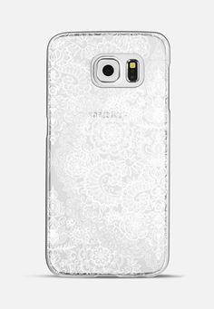 e43f8be4b Classic Snap Samsung Galaxy S6 Case - Crystal White Vintage Lace on  Transparent