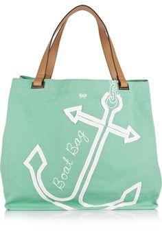 Mint anchor beach bag. =)