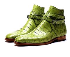 ZONKEY BOOT made-to-order hand welted strap Jodhpur boots from crocodile leather. Calf leather lining and leather soles. Men's Shoes, Shoe Boots, Dress Shoes, Shoes Men, Men Dress, Shoes Sneakers, Alligator Boots, Mens Boots Fashion, Fashion Women