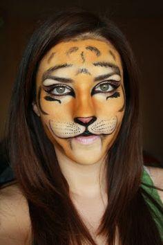 Deea make-up: HALLOWEEN Make-up : Tigrisor