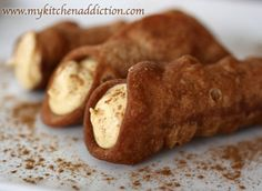 Pumpkin Spice Cannolis. These might be good for Thanksgiving.