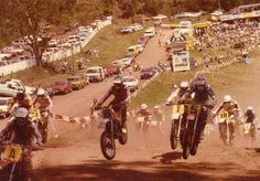 Riders compete for the title of Mountain Man Motocross in 1984