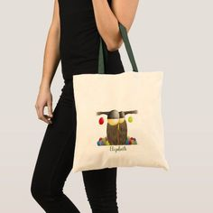 Cute Holiday Owl Illustration Tote Bag that can be customized. By One Artsy Momma #funnyowl #cuteowl #cuteowlart #adorableowldrawing #owl #owls #owlart #owlartwork #owlillustration #owldrawing #owldrawings #owlillustrations #owlpainting #owlpaintings #gifts #giftideas #giftsforeveryone Personalized Tote Bags, Custom Tote Bags, Summer Tote Bags, Owl Illustration, Tote Backpack, Cute Owl, Cute Fashion, Owls, Unusual Presents