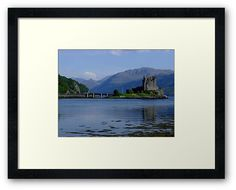 'Eilean Donan Castle' Framed Print by David Rankin Abandoned Castles, Abandoned Mansions, Abandoned Houses, Abandoned Places, Eilean Donan, Castle Scotland, Abandoned Amusement Parks, Scottish Castles, Grand Homes