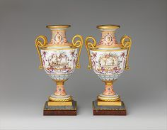 Sèvres Manufactory | Pair of vases | French, Sèvres | The Met (03.09.2016)