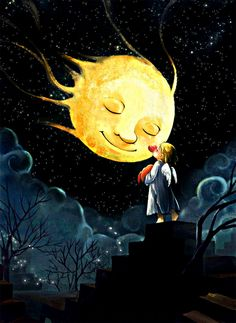 Animated Gif by Chris Cote Gifs, Animation, Happy Weekend Images, Images Gif, Good Night Sweet Dreams, Sun And Stars, Angel Cards, Morning Images, Cute Art