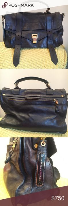 Proenza Schouler PS 1 Medium Midnight Blue The color has faded a bit on the front. Used but in good condition. Proenza Schouler Bags Crossbody Bags