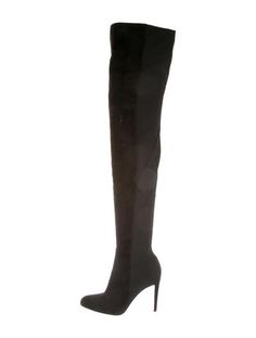 Gianvito Rossi Black Suede Over-The-Knee Boots #TreatYourself