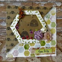 Bee Garden shaker card by Katie Lamb