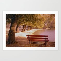 Herbstspaziergang in Opladen am Weiher 1959 von Art Print by Canvas Prints, Art Prints, From The Ground Up, Beautiful Wall, Buy Frames, Printing Process, Gallery Wall, Poster, Make It Yourself