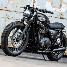 Triumph Motorcycle, a Bobber Concept. Triumph T100, Triumph Cafe Racer, Triumph Motorcycles, Indian Motorcycles, Cafe Racer Bikes, Cafe Racer Motorcycle, Cool Motorcycles, Motorcycle Design, Vintage Motorcycles