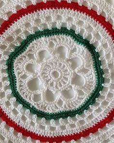 """Watch the Vintage Christmas Doilies Crochet Pattern product review video! Design By: Maggie Weldon Skill Level: Intermediate Sizes: Holly Doily - About 16"""" diameter. Green & White Doily - About 11"""" di"""