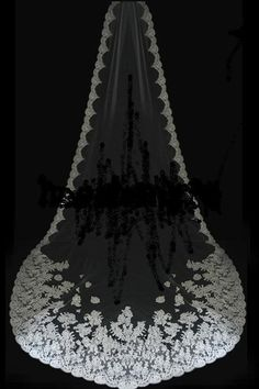 Magnificent chapel length Lace Mantilla Bridal by yesteryearglam, $295.00