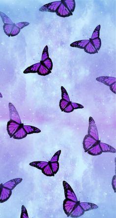 Simple Iphone Wallpaper, Iphone Wallpaper Glitter, Cartoon Wallpaper Iphone, Iphone Wallpaper Tumblr Aesthetic, Iphone Background Wallpaper, Aesthetic Pastel Wallpaper, Wallpaper Quotes, Aesthetic Wallpapers, Purple Butterfly Wallpaper