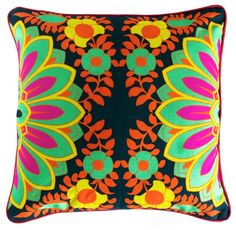 Buy Blooming Mint Green Flower Cushion Cover | Home Decor | Binocolor