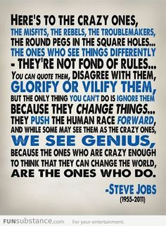 Steve Job's words of wisdom
