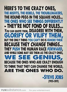 Steve Job's words of wisdom