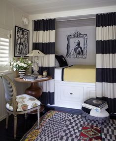 Very stylish for a small area. I like that the bed can be closed off. Stephen Shubel