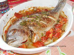 Cinco sentidos na cozinha: Pargo mulato assado no forno à portuguesa