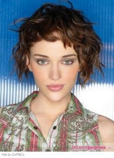 curly hair and baby bangs - Google Search