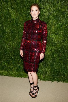 Julianne Moore attends the CFDA Vogue Fashion Fund Awards in New York on Monday, Nov. 11, 2013.