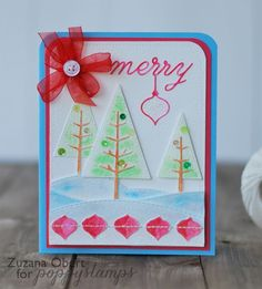 Blog Blitz Featuring Stitched Pine Treesby the Poppystamps Design Team