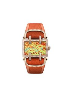 Swiss watchmaker DeLaneau's Flower Field watches bring the hazy beauty of Impressionist art to watch dials that are miniature enamel  paintings for the wrist.