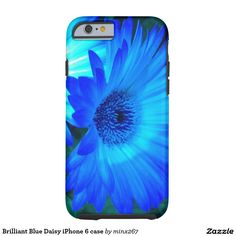 Brilliant Blue Daisy iPhone 6 case