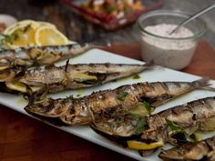 Mediterranean Sardines with Lemon and Garlic Recipe | Guy Fieri | Food Network