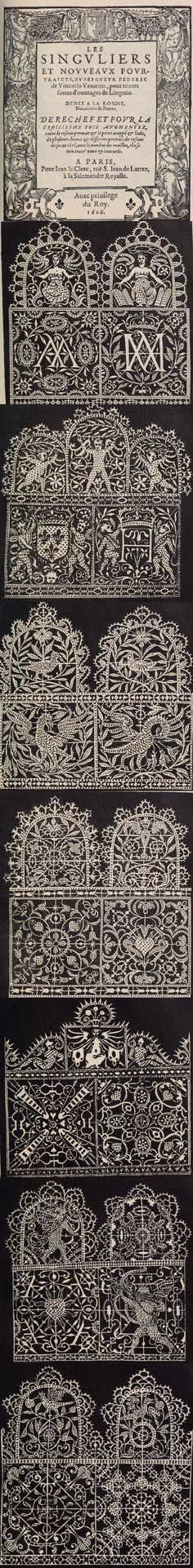 Read this Italian lace and embroidery book from 1909. Reticello designs.