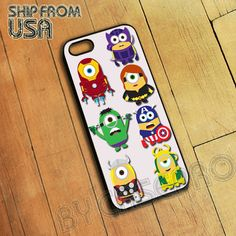 The Avengers Superhero in Minions Minion Style 1D Funny Cute iPhone 5 Case DM09 on Etsy, $15.99! I found my future phone case.