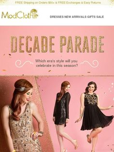 Party in the prettiest 20s, 50s, 60s or 70s looks. - Modcloth
