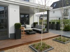 mooie tuin houten