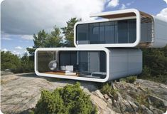 contemporary living in nature. prefabricated multi purpose unit to be combined