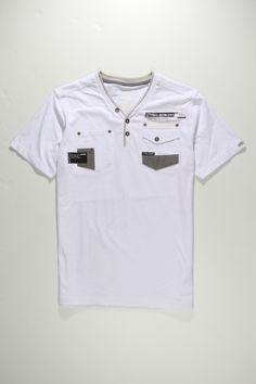 S/S Henley 130724 Camisa Polo, Denim T Shirt, My T Shirt, Boys T Shirts, Tee Shirts, Shirt Stays, Mens Attire, Pyjamas, Sportswear