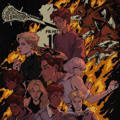 Neil Josten, Fanart, Fox Boy, Raven King, Book Characters, Best Novels, Book Fandoms, Book Series, Game Art