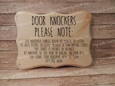 Door Knockers Please Note No Soliciting Sign Funny DIY Your Own Sign Decal DIY Do it Yourself Wall Art Decor Signs by DarlingDecalCo on Etsy https://www.etsy.com/listing/492997023/door-knockers-please-note-no-soliciting
