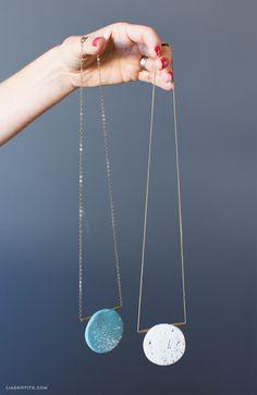 DIY: polymer clay necklace