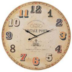 #oferta reloj vintage de 58cm a 15,99€ #home #hogar #estilo #deco #decoración http://hogaresconestilo.com