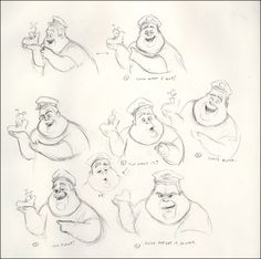 Original Disney Character model sheets!!!!!