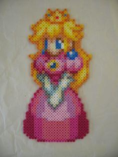 Princess Peach Perler bead!!